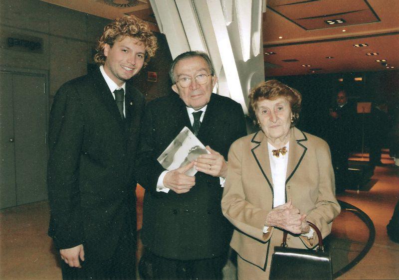 On. Giulio Andreotti e sua moglie Livia Danese ospiti dei Brusutti a Venezia