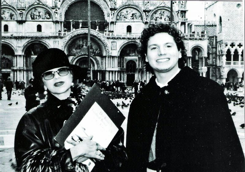 La Cantante Milva ospite dei Brusutti a Venezia con Marco Eugenio Brusutti e Franca Rame